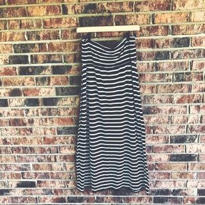 { ANA } Black and White Striped Maxi Skirt